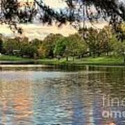 sunset lake I Print by Chuck Kuhn