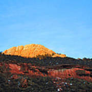 Sunset On Horsetooth Mountain Print by Ric Soulen