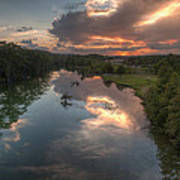 Sunset On The Guadalupe River Print by Paul Huchton