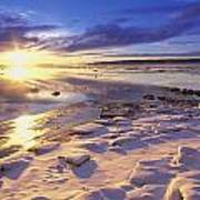 Sunset Over Knik Arm & Six Mile Creek Print by Michael DeYoung