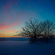 Sunset Over Sattuna Print by Jonas Lind