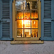 Sunset Through A Window Print by Olivier Le Queinec