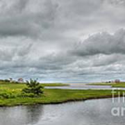 Sunshine And Heavy Clouds Over Dennisport Print by Michelle Wiarda