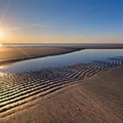 Sunshine On The Beach Print by Debra and Dave Vanderlaan