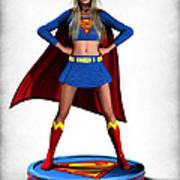 Super Girl V2 Print by Frederico Borges