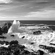 Surf At Cambria Print by Barbara Snyder