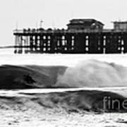 Surfer In Motion Print by Paul Topp