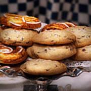 Sweet - Cookies - Cookies And Danish Print by Mike Savad