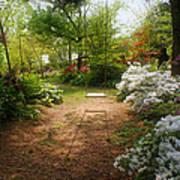 Swing In The Garden Print by Sandy Keeton