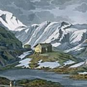 Switzerland Hospice Of St. Bernard Print by Italian School