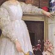 Symphony In White No 2 The Little White Girl Print by James Abbott McNeill Whistler