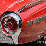 T-bird Tail Print by Dennis Hedberg