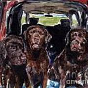 Tailgaters Print by Molly Poole