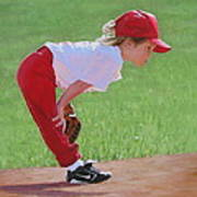 Taking An Infield Position Print by Emily Land