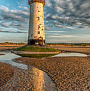 Talacre Lighthouse Sunset Print by Adrian Evans