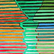 Talking Heads Print by Diane Fine