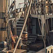 Tall Ship Kalmar Nyckel Ropes Print by Dapixara Art