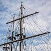 Tall Ship Masts Print by Dale Kincaid