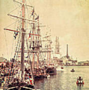 Tall Ships Print by Joel Witmeyer
