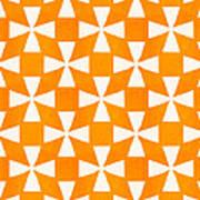 Tangerine Twirl Print by Linda Woods