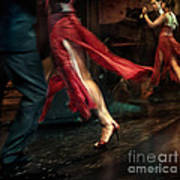 Tango Reflection Print by Michel Verhoef
