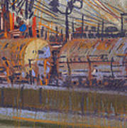 Tanker Fill Point Print by Donald Maier