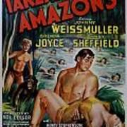 Tarzan And The Amazons Print by Georgia Fowler