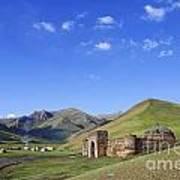 Tash Rabat Caravanserai In The Tash Rabat Valley Of Kyrgyzstan  Print by Robert Preston