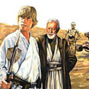 Tatooine Massacre Print by Edward Draganski