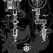 Tattoo Gun Patent Print by Dan Sproul