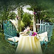 Tea In My Garden Print by Trudy Wilkerson