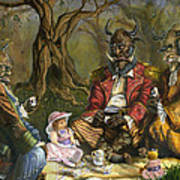 Tea With The Ogres Print by Jeff Brimley