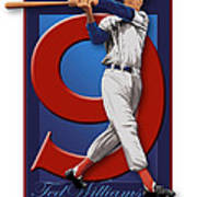 Ted Williams Print by Ron Regalado