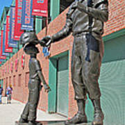 Ted Williams Statue Print by Barbara McDevitt