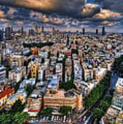 Tel Aviv Lookout Print by Ron Shoshani