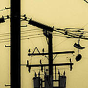 Telephone Pole And Sneakers 5 Print by Scott Campbell