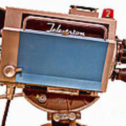 Television Studio Camera Hdr Print by Edward Fielding
