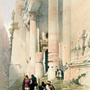 Temple Called El Khasne Print by David Roberts