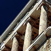 Temple Of Athena Nike Columns Print by John Rizzuto