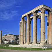 Temple Of Olympian Zeus Athens Greece Print by Ivan Pendjakov