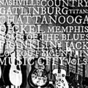 Tennessee Words Sign Print by Chastity Hoff