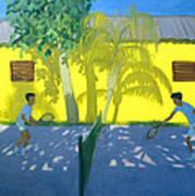 Tennis  Cuba Print by Andrew Macara