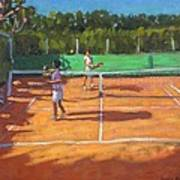 Tennis Practice Print by Andrew Macara