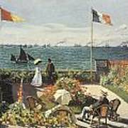 Terrace At Sainte-andresse Print by Claude Monet