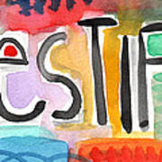 Testify- Colorful Pop Art Painting Print by Linda Woods