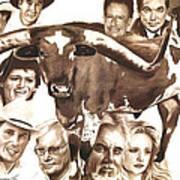 Texas Born Print by Bill Olivas