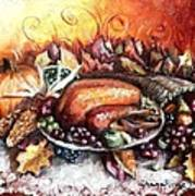 Thanksgiving Dinner Print by Shana Rowe Jackson