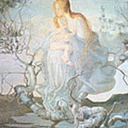 The Angel Of Life Print by Giovanni Segantini