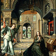 The Annunciation, Early 16th Century Print by Bernart van Orley