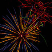 The Art Of Fireworks  Print by Saija  Lehtonen